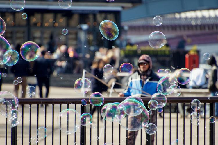 People in bubbles