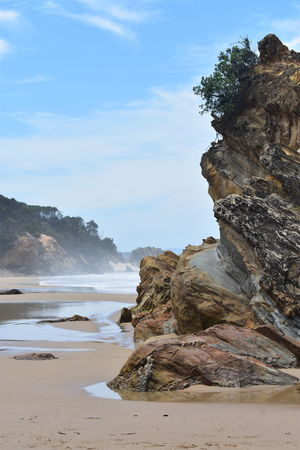 seascape Mallacoota Paradise Secret Blue Sky Waves Travel Water Sea Beach Wave Mountain Sand Rock - Object Sky Landscape Geology Eroded Rugged Rock Formation Natural Landmark Rocky Coastline