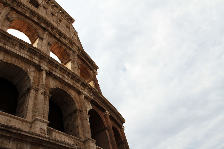 Amphitheater Ancient Ancient Civilization Ancient History Arch Archaeology Architectural Column Architecture Arts Culture And Entertainment Building Exterior Built Structure Cloud - Sky Colosseum History Low Angle View Nature No People Old Ruin Ruined Sky The Past Tourism Travel Travel Destinations