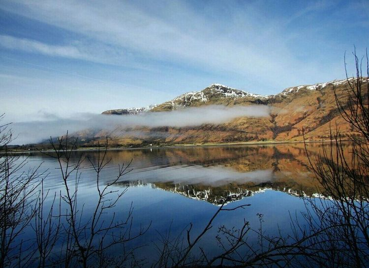Taken at Loch Linnhe in Scotland on Easter Sunday 2015 Reflection Water Lake Tree Landscape Reflection Lake Reed - Grass Family Sky No People Outdoors Nature Scenics Day Scottish Highlands Scotland Loch  Loch Linnhe Finding New Frontiers