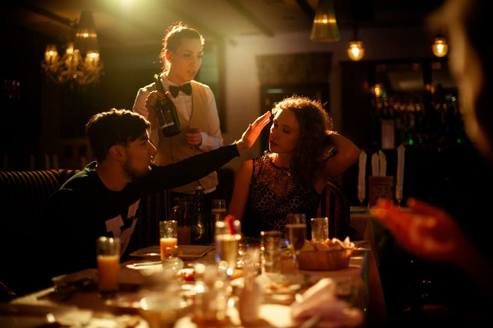 Night Men Indoors  Celebration Happiness Nightlife People Party - Social Event Atmospheric Mood