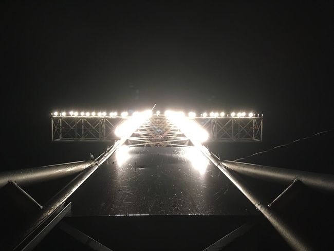 Illuminated Cross at Night. EyEmNewHere Illuminated Night No People Architecture Outdoors Built Structure Lighting Equipment EyeEmNewHere