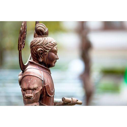 Shogun Sculpture Japan Temple Kyoto