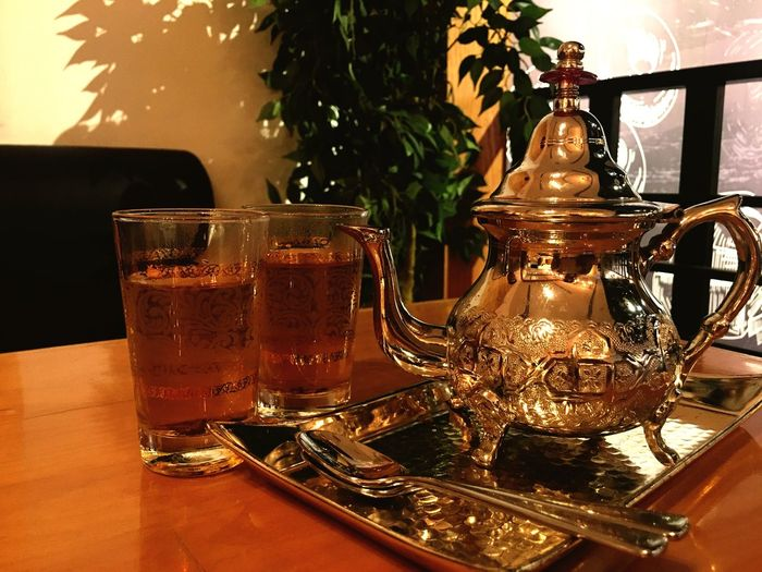 Morrocan Tea Drink Refreshment Table Food And Drink Indoors  Drinking Glass No People Freshness Close-up Alcohol Day Liqueur Tea HotDrink