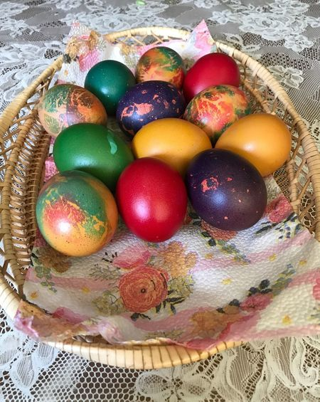 Multi Colored Easter Egg Easter Food Egg Celebration High Angle View Food And Drink No People Holiday Indoors  Variation Healthy Eating Directly Above