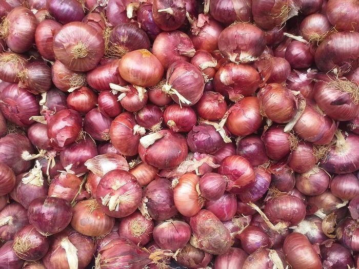 Full frame shot of fresh onions