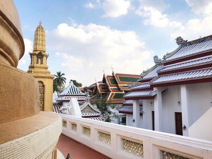Thailand Architecture Bangkok Temple Travel Explore Solo Traveler Budists Culture Watbowonniwet Vihara