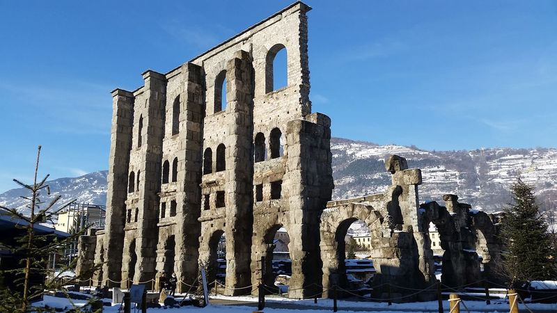 Amazing View Aosta Valley Anfiteatroromano Aosta Vda Anfiteatro Teatro Romano Teatro