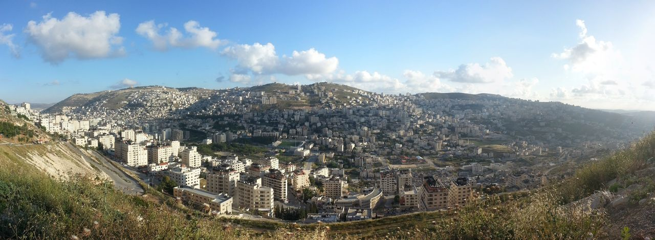 Nablus Palestine Israel Cities Cityscapes Panorama Hills Houses Clouds No People Travel Photography Travel Traveling Mountains Landscapes With WhiteWall The Great Outdoors With Adobe Lost In The Landscape Summer Exploratorium
