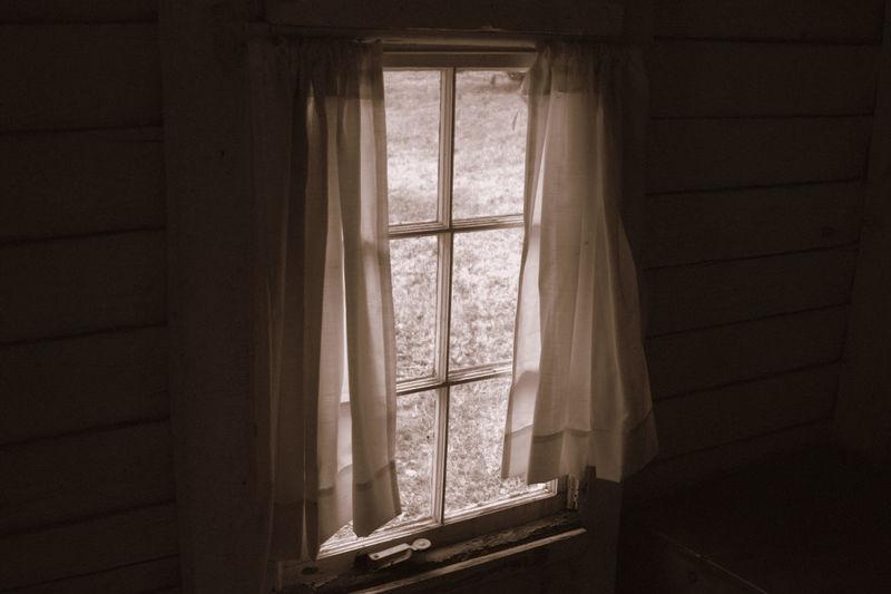 Sunlight through window into room