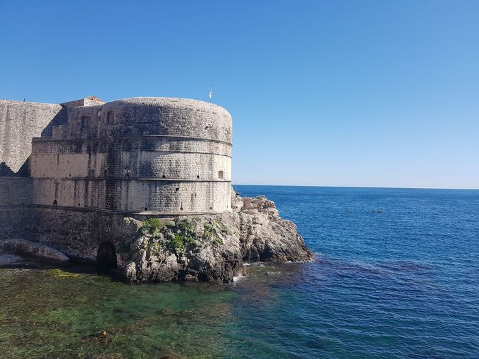 Summer in Dubrovnik 😊🌞 The Purist (no Edit, No Filter) No Edit/no Filter EyeEm EyeEmNewHere EyeEm Gallery EyeEm Selects Eyeemphotography EyeEm Best Shots Water Sea Clear Sky Sky Architecture Horizon Over Water Building Exterior Built Structure Castle History Historic Building Past The Past Civilization Fort Medieval Fortified Wall Fortress Historic