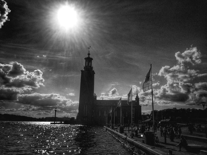 Sun City Hall Stockholm Blackandwhite Urbanphotography Sunny Urban Landscape