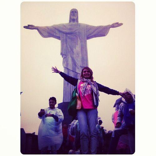 Abençoada pelo Cristo Redentor!!! Emocao Corcovado Riodejaneiro
