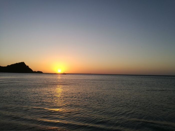 Costa Rica Guanacaste  Playa Rajada Water Sea Sunset Beach Galaxy Horizon Sand Blue