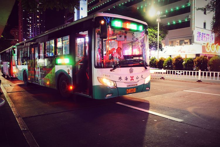 Bus Station Bus Zhuhai, China Zhuhaicity Zhuhai At Night In The Evening Zhuhai China Night Bus Lights Bus Light Neon Lights Neon Sign The Driver Get On The Bus Night Lights Nightphotography Night Photography Night View Night Urban My Travel  Traveling Travel Photography Colour Of Life
