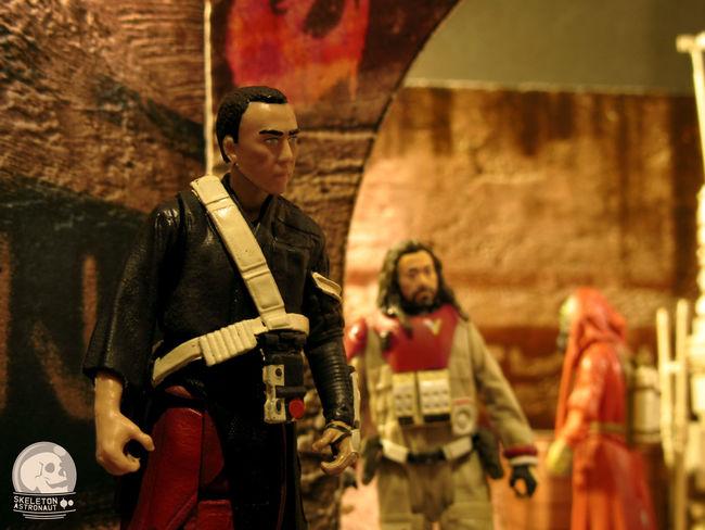 Baze Malbus Bazemalbus Cassian Andor Cassianandor Chirrut Imwe Chirrutimwe Diorama Hasbro Jedha Jyn Erso JynErso Rogue One RogueOne Star Wars Starwars