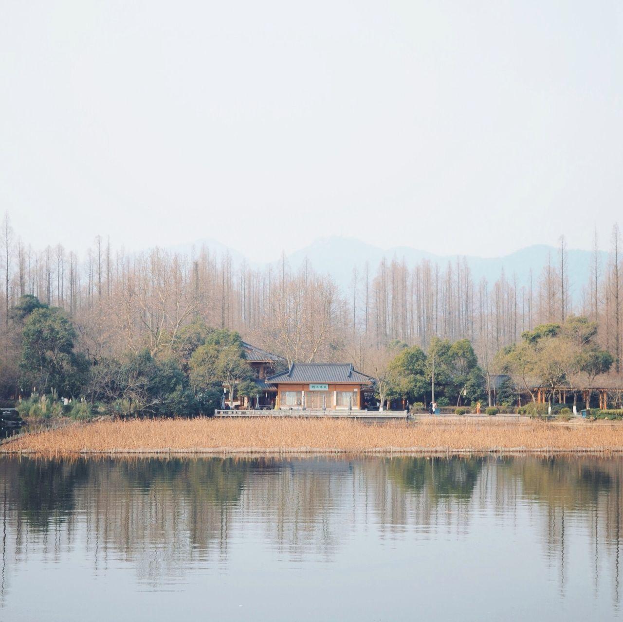 Temple at lakeshore