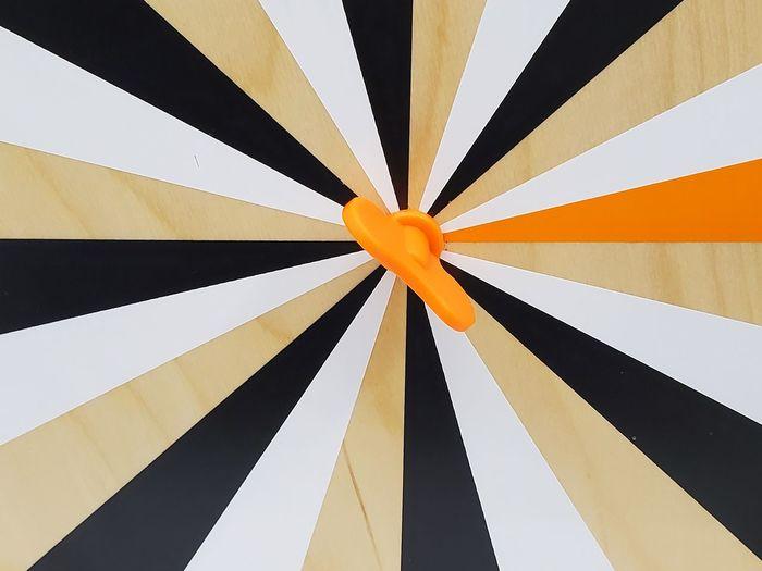 Close-up of a dart board
