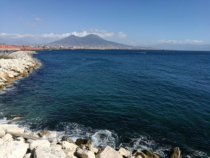 Sun Sea Vesuvio Beautiful Cold Temperature Sky Day Nofilter Nomodification City Of Naples Naples, Italy Napoli ❤ No Filter, No Edit, Just Photography