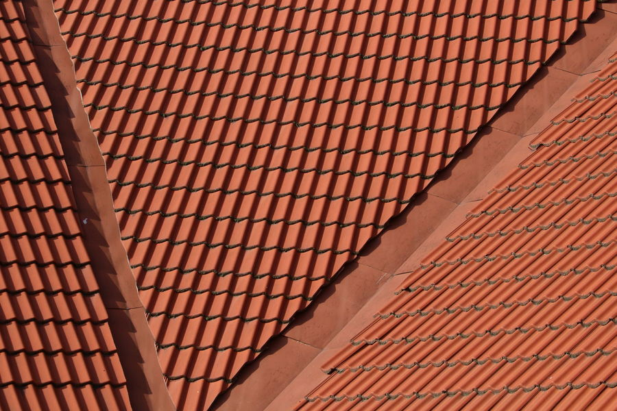 Architecture Backgrounds Built Structure Close-up Full Frame Housetop Low Angle View Beautifully Organized Outdoors Pattern Red Repeating Repeating Patterns Roof Roof Roof Tile Rooftop Rooftop View  Textured  Geometry Geometry Pattern Repeating Element Geometry Everywhere Geometryurban Background Texture The Graphic City