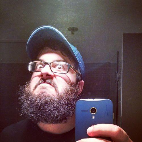 Great lighting in the hotel bathroom. AmberAlert Beardgame Beards Motox 1740 Beardbalm Prowlerintheyard Oakley Sabres