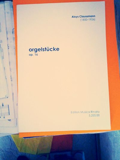 Typography Orgel