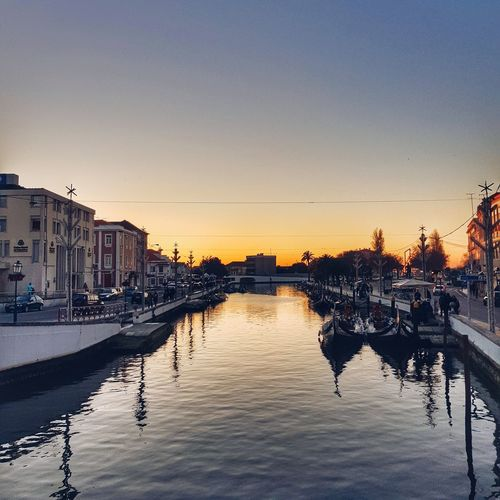 about the magic city Reflection River Sunset Aveiro Boats Water Walk Sky Bridge Travelling Houses Population Samsung Galaxy S8 Phone Camera PhonePhotography Sun Cityscape Outdoors