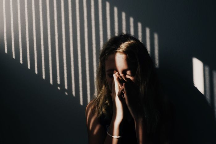 Young Adult Indoors  Wall - Building Feature Person Casual Clothing Sneeze Stripes Pattern Lighting Eyes Limbs Hands Hair The Portraitist - 2017 EyeEm Awards