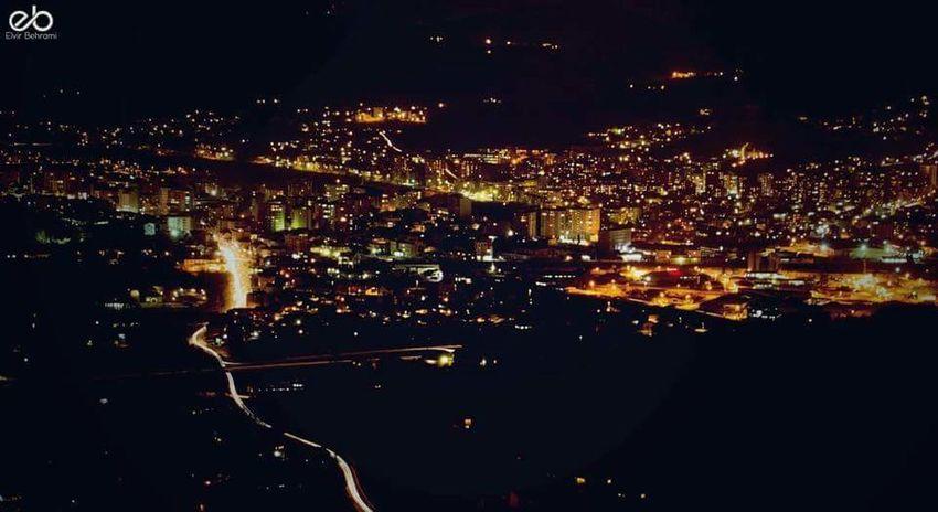 City Lights Night View Taking Photos I Love My City Kosovo Mitrovic