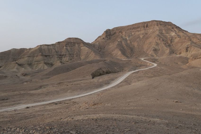 Travel Travel Destinations Aventure Road Israel Negev  Sky Land Scenics - Nature Mountain Tranquil Scene Nature Clear Sky Landscape Desert Arid Climate Tranquility Environment Beauty In Nature Non-urban Scene Climate No People Extreme Terrain Day Mountain Range
