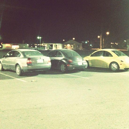 Living the dream, with Volkswagens!(: Nolan  Kendra Meee Volkswagens Volkswagenbugs loveit