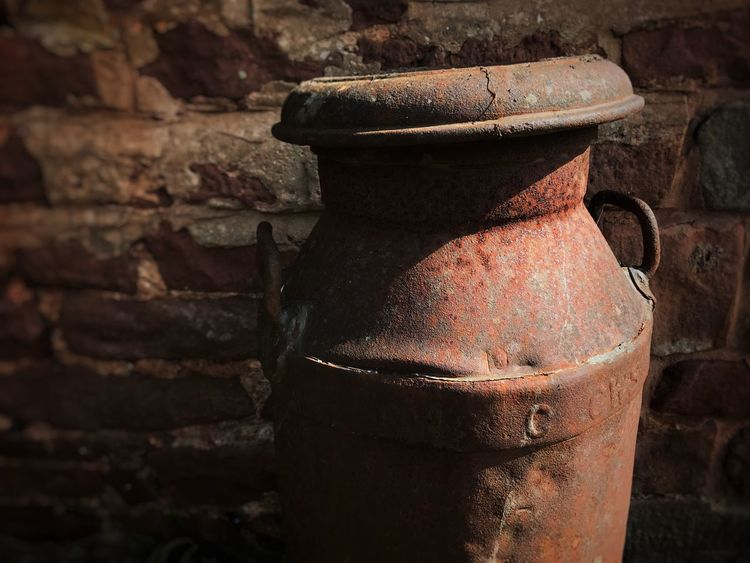 Old Rusty No People Weathered Day Abandoned Outdoors Close-up Wall Milk Can Metal Country Life