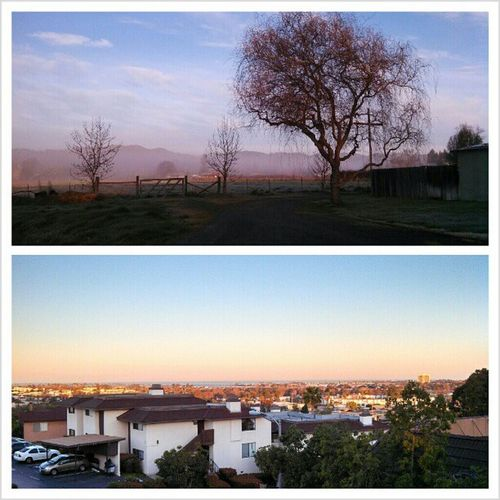 What I woke up to yesterday morning, compared to this morning. SD is beautiful, but is there really any comparison? I miss my little valley so much already. Not ready for the city life Pottervalley Thesimplelife Missit Sunrise