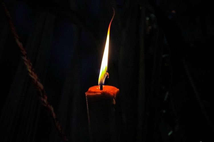 Last candle. Candle Darkness And Light