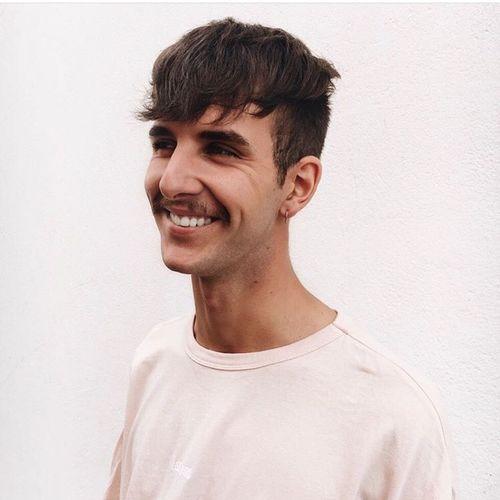 Model Man Laughing Moustache Modelo Guy Handsome Hair
