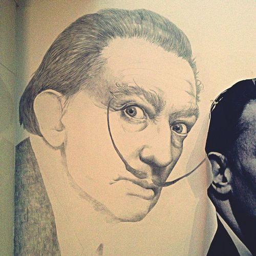 Portrait Painting Dalí My Art My Artwork Artist Art On The Wall