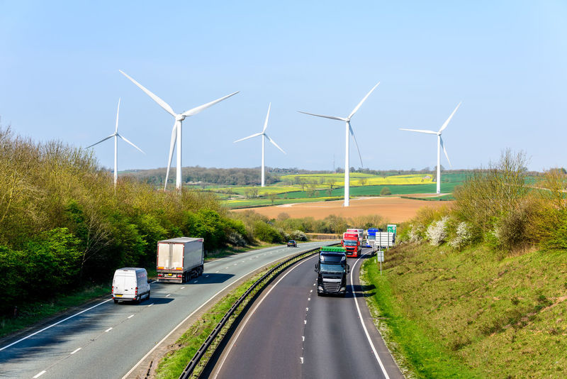 Day view UK Motorway Road Wind Turbines Alternative Energy Day Daylight Environmental Conservation Fuel And Power Generation Industrial Windmill Motorway Nature No People Outdoors Renewable Energy Road Road Sky Transportation Tree Turbine Uk Wind Wind Power Wind Turbine Windmill