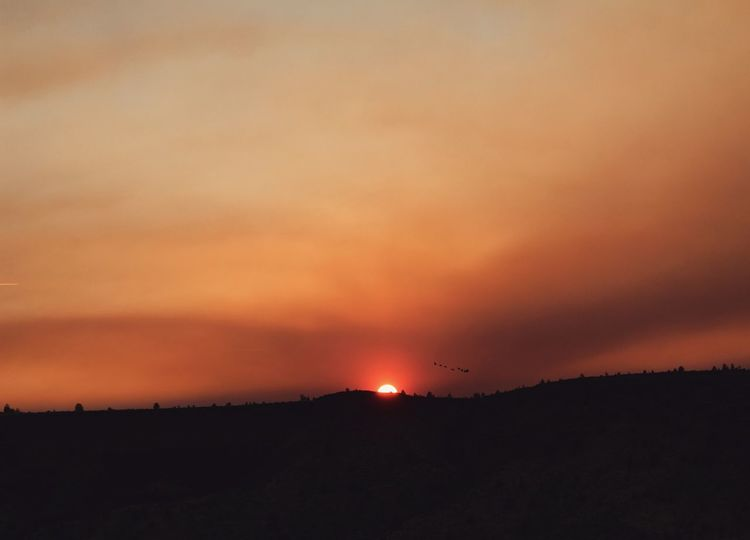 Sunset in Oregon. Sunset Dramatic Sky Weather Landscape Beauty In Nature Scenics Environment Wildfiresmoke Sky Outdoors Tranquility Pacific Northwest