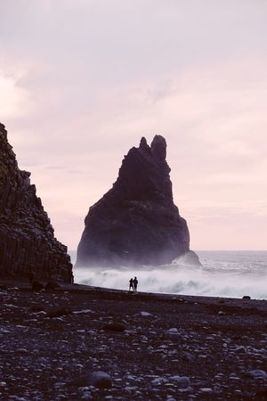 Together (find me on IG @noeldxng) Rock - Object Rock Formation Nature Beauty In Nature Sea Beach Silhouette Sunset Cliff Sky Horizon Over Water Outdoors Full Length Adventure Scenics People Landscape Mountain Connected By Travel The Week On EyeEm Lost In The Landscape Exploring Iceland Dramatic Sky Travel Destinations Perspectives On Nature Rethink Things Be. Ready. A New Beginning