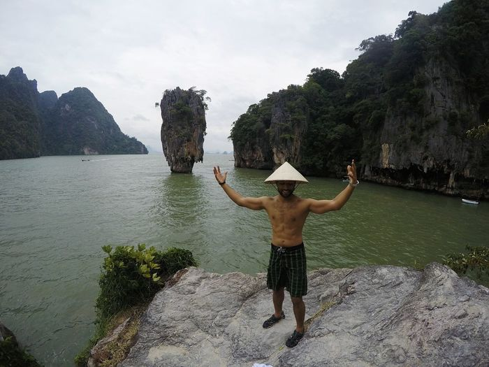 Rear View Human Body Part Tree Vacations Nature Travel Destinations Beauty In Nature Landscape Sky Happiness Water Beach Thailand Photos Thailandtravel Thailand_allshots Outdoors Thailand James Bond James Bond Island Phang Nga Bay