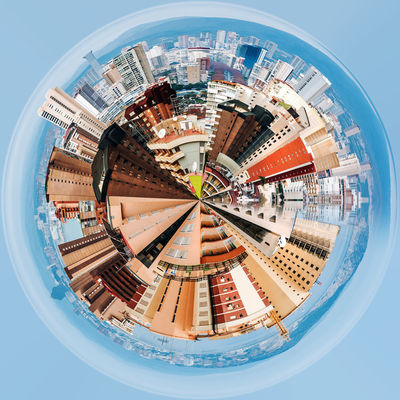 Little planet 360 degree sphere. Modern skyscrapers of Benidorm. Benidorm is a coastal city in Alicante, Spain 3 Dimensional 360 Degree Altered Image Architecture Benidorm City Cityscape Modern Architecture Panorama Panoramic SPAIN Skyline Sphere TOWNSCAPE Built Structure Digitally Generated Image Landscape Office Building Planet Skyscraper Three Dimensional Three Dimentional Photography Urban Landscape Urban Skyline World