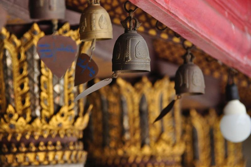 Bells Hanging In Buddhist Temple
