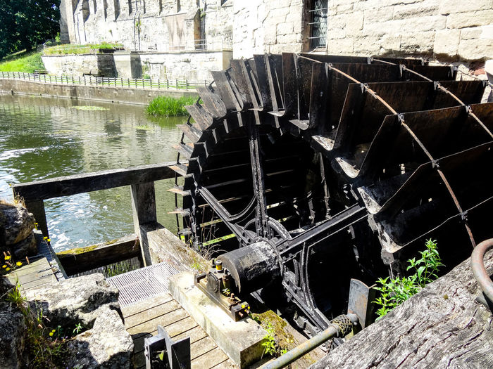 Architecture Mill Wheel River Avon Warwick Building Exterior Built Structure Day Medieval Medieval Architecture Medieval Castle Metal Metal Wheel Mill No People Outdoors River Stone Wall Warwick Castle Water Wheel Watermill