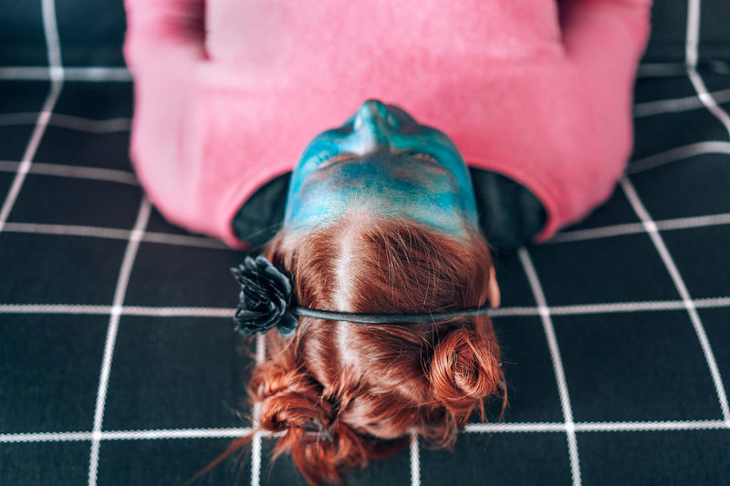 NotYourCliche Lines Pattern Broken Patterns Blue Face Blue Hair Hair Style One Woman Only One Young Woman Only Portrait Red Red Hair Pink Couch Geometry Human Body Part One Person Tile People Adult Adults Only Close-up Day Press For Progress Modern Workplace Culture Inner Power Go Higher Visual Creativity This Is My Skin Creative Space The Fashion Photographer - 2018 EyeEm Awards The Portraitist - 2018 EyeEm Awards The Still Life Photographer - 2018 EyeEm Awards The Creative - 2018 EyeEm Awards Urban Fashion Jungle