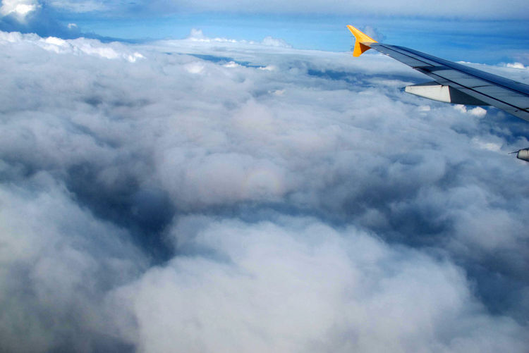 Aerial View Aircraft Wing Cloud Cloud - Sky Cloudscape Journey Mode Of Transport Nature Randomshot Sky Taking Photos The Sky The Limit Travel Photography Miles Away Lost In The Landscape Connected By Travel An Eye For Travel The Traveler - 2018 EyeEm Awards