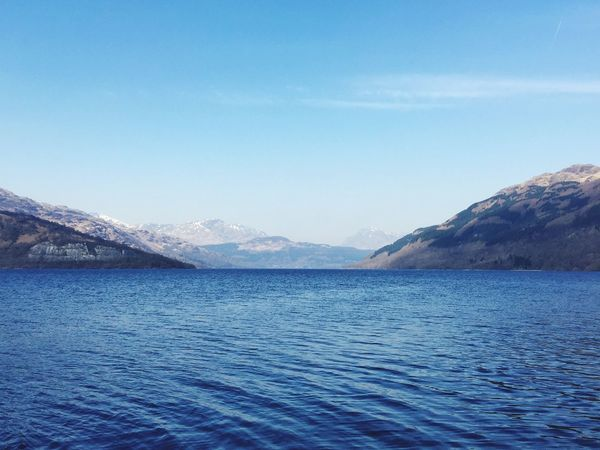 Ben Lomond in the distance, stunning morning Eye Em Nature Lover Eye Em Scotland LochLomond Blue Sky