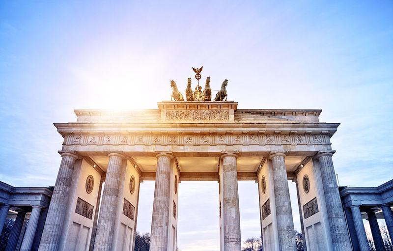 Brandenburg Gate in Berlin Berlin Brandenburg Gate Travel Brandenburger Tor Bulding Landmark Sight Tourism Travel Destinations