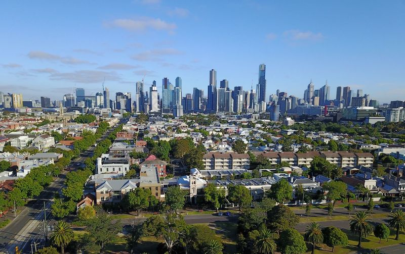 Taking Photos City View  Cityscape View From Above View Building Exterior Building Highrise Dronephotography Drone  Aerial Aerial Shot Aerial View Australia Melbourne Skyline Skyscraper Cityscape Sky City Architecture Building Exterior Urban Skyline Built Structure Cloud - Sky Modern Outdoors Tree Nature Day