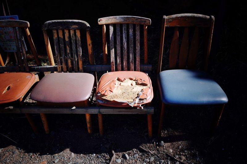 Chair Roadside Light And Shadow Sunlight