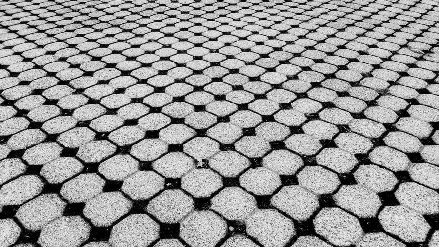 Full frame ch checkerboard  pattern shot of footpath